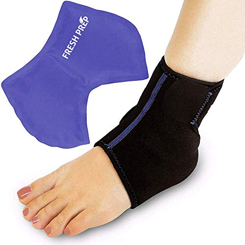 Foot Ankle Brace Wrap with Cold & Hot Ice Pack,Microwaveable, Freezable Flexi Reusable for Injuries, Pain Relief,Sprains,Muscle Pain,Bruises