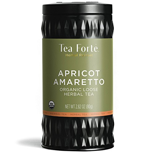 Tea Forte Herbal Retreat Organic Herbal Tea APRICOT AMARETTO, 2.82 Ounce Loose Leaf Tea Canister