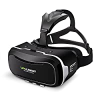 Virtual Reality Headset, ELEGIANT 3D VR Glasses Virtual Reality Box for 3D Movies Video Games for iPhone 8 7 6 6s Plus Samsung S8 S7 S6 Edge S5 Note 5 and Other Smartphone - 2nd Generation VR Headset from ELEGIANT