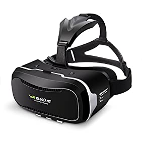 Virtual Reality Headset, ELEGIANT 3D VR Glasses Virtual Reality Box for 3D Movies Video Games for iPhone 7 6 6s Plus Samsung S8 S7 S6 Edge S5 Note 5 and Other Smartphone - 2nd Generation VR Headset