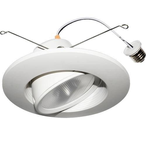 12 Pack 5'' & 6'' Inch LED Gimbal Recessed Downlight, 14W, E26 Base, Dimmable, Flexible light beam direction, ETL & Energy Star (4000 Kelvin)