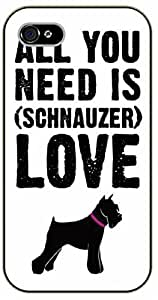 iPhone 5C All you need is love (Black Schnauzer) - black plastic case / dog, animals, dogs