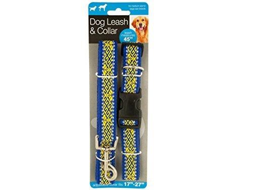 Price comparison product image Patterned Dog Leash & Adjustable Collar Set - Pack of 4
