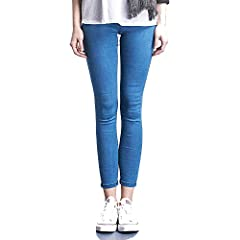 Closure Type:Elastic WaistStyle:CasualBrand Name:TT LemonElastic Type:High ElasticColor:Dark Blue Light Blue BlackGender:WomenFabric Type:Medium ThicknessMaterial:Spandex CottonJeans Style:Pencil PantsItem Type:JeansDecoration:Pockets WashedW...