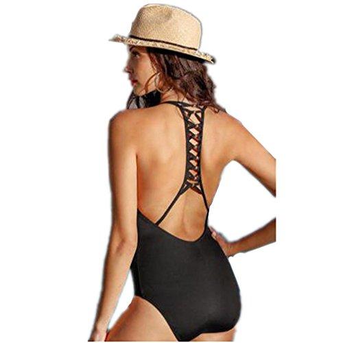 XILALU Women sexy Bikini Bandage High Waist Swimsuit One Piece Beach Swimwear (US 6-8, (Private Pin Up Costumes)
