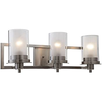 Designers Impressions Juno Satin Nickel Light Wall Sconce - Sconce bathroom
