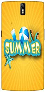 Snoogg Abstract Summer Background Designer Protective Back Case Cover For One...