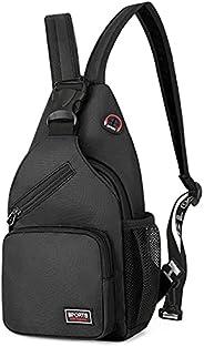 Peicees Sling Bag for Men & Women Waterproof Sling Backpack Crossbody Shoulder Bag For Travel/ Hiking/ Cyc