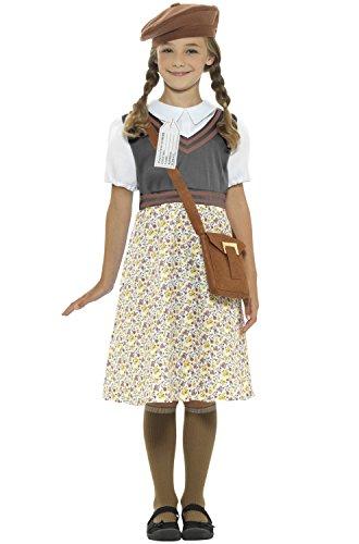 7-9 Years Girls Evacuee School Girl Costume