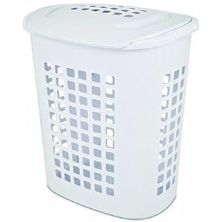 Laundry basket plastic lid do it yourselfore sterilite 12218004 23 bushel81 liter lifttop laundry hamper white 4 pack solutioingenieria Image collections