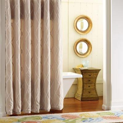 Company C Calypso Shower Curtain, Driftwood