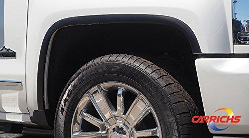 Black Fender Trim 2015-2018 Chevy Silverado 2500 3500 (No Dually) / 2016-2018 Chevy Silverado 1500