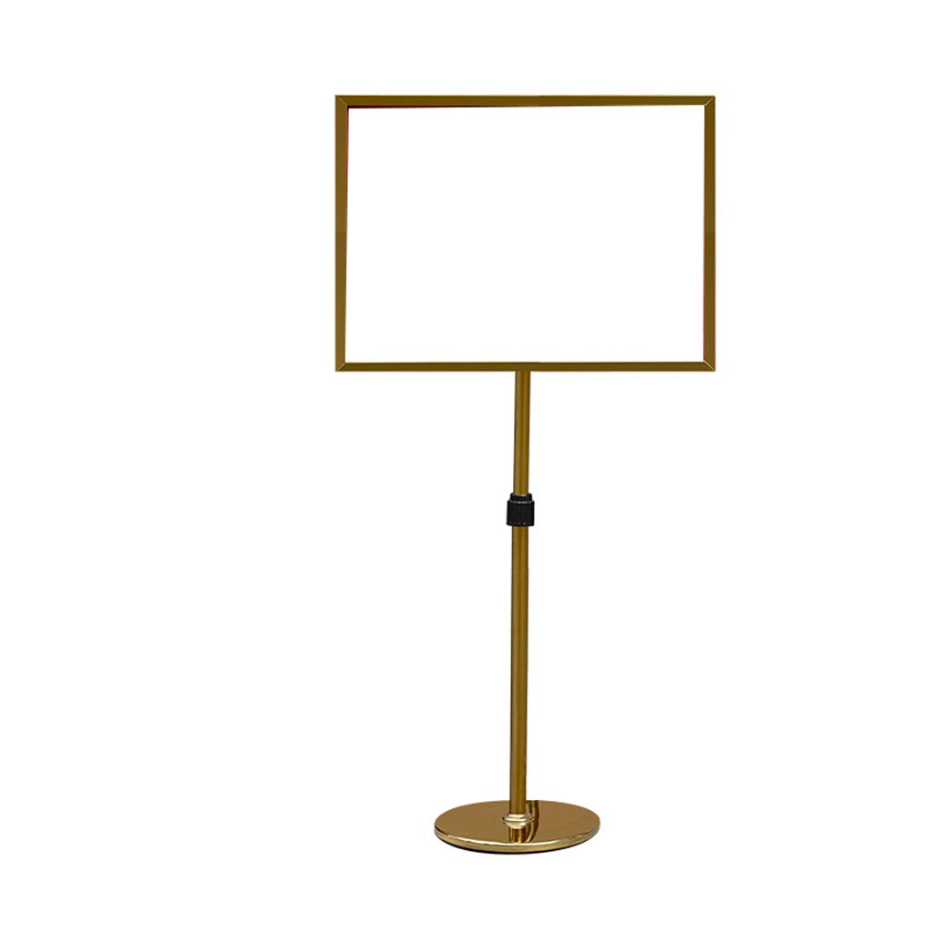 A2 Adjustable Poster Stand Display Snap Frame Sign Advertisement Holder Floor Color : Gold