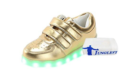 [+Pequeña toalla]De carga USB zapatos de los niños chicos que emite luz zapatos zapatos de los zapatos luminosos LED iluminados deportiva c1
