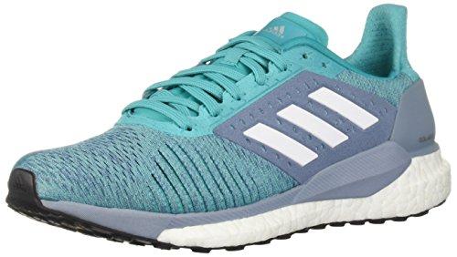 (adidas Women's Solar Glide ST Running Shoe, hi-res Aqua/White/raw Grey, 7.5 M US)