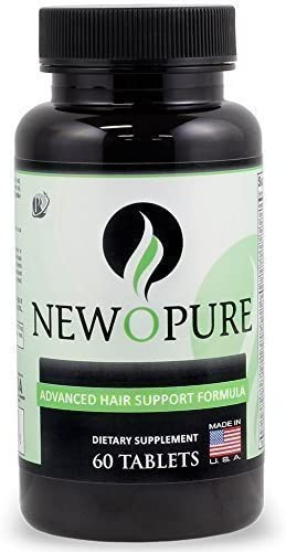 Newopure Natural Hair Growth Vitamins, Repairs Hair Follicles, Stops Hair Loss, Blocks DHT, Stimulates New Hair Growth, Promotes Thicker, Fuller and Faster Growing Hair. Men Women 30 Day Supply