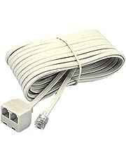 Softalk 4130 Corded Duplex Jack 25-Feet Almond Landline Telephone Accessory