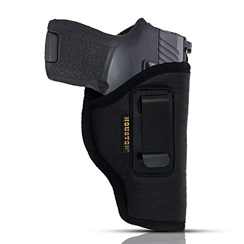 IWB Gun Holster by Houston - ECO Leather Concealed Carry Soft Material   Fits Sig P250 Sub Comp, P320 Sub Comp, 224   FNS 9C   XD Mod. 2-3