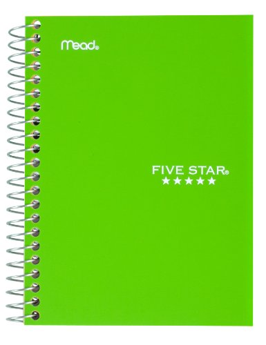 "043100454847 - Five Star Personal Spiral Notebook, 7"" x 4 3/8"", 100 Sheets, College Rule, Assorted colors (45484) carousel main 3"