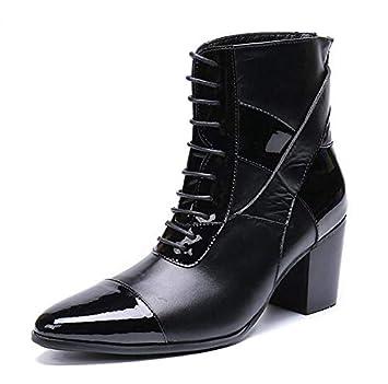 e19bd242 LOVDRAM Zapatos De Cuero para Hombre Los Hombres De Moda Botines Cuckles  Dobles Zapatos De Vestir ...