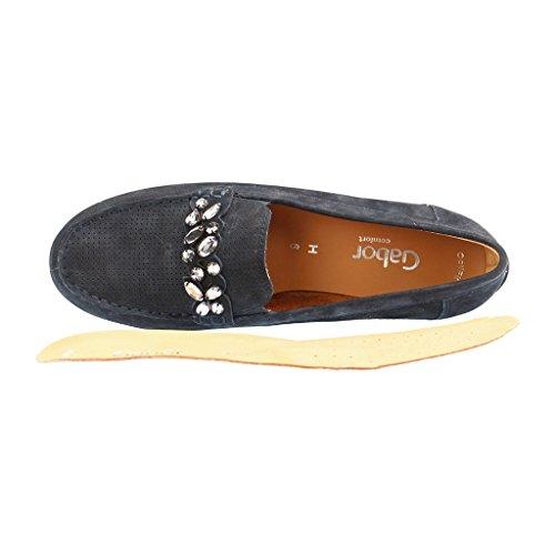 Signore mocassino GABOR comfort - - scarpe blu in oversize
