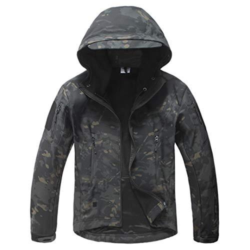 Armée Camouflage Veste Homme Manteau Veste Tactique Militaire d'hiver Randonnée Chasse Softshell Coupe-Vent 4