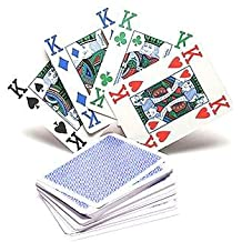 Copag 4 Colour 100% Plastic Playing Cards Poker Size Jumbo Index (Blue Back) by Copag