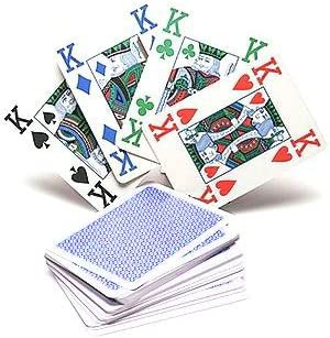 Copag 4 Colour 100/% Plastic Playing Cards Poker Size Jumbo Index Blue Back by Copag