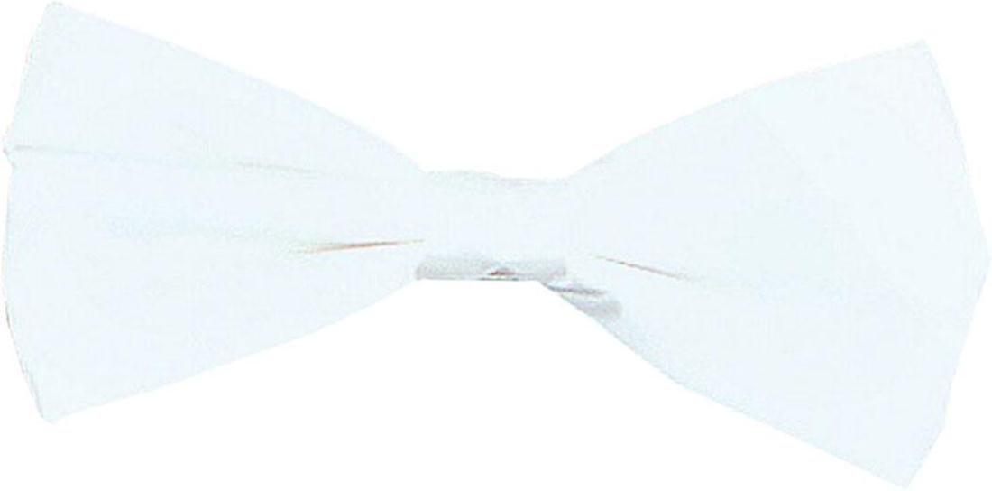 Adult Fancy Dress Wedding Party Costume Neckwear Accessory Necktie Bow Tie White