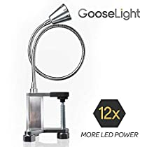 "Adjustable Magnetic LED Work Light - ""GooseLight"" Portable BBQ Light and All Purpose Task Light with Powerful Work Lamp Battery LED Light Bulbs"