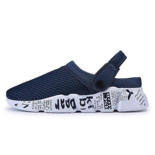 Bleu Mules Taille à la jusqu'à pour d'été Color Plats Hommes EU de à 41 Taille Chaussures Maille Talons Les Homme Couleur Chaussures 46 2018 en sur Unie Tissu z4fwqtSz