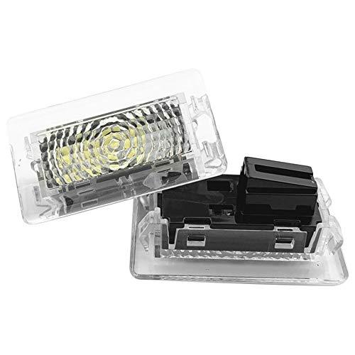 Senled 2PcsUltra-bright WHITE LED (Clear Lens) High Output Interior Light Car Door Lamp Puddle Trunk Light Kit for Tesla Model 3 S X