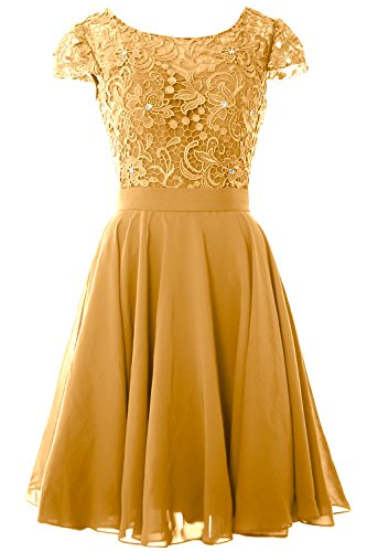 Mother Short MACloth Sleeve Gold Gown Women Dress Party of Formal Bride Cap the Lace naqA6xTwq