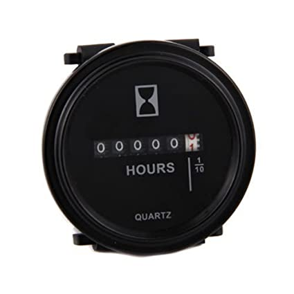 ATOPLEE Quartz Round Back Trim Ring Hour Meter Boat Tractor ... on home golf cages, home golf mats, home generators, home driving range,