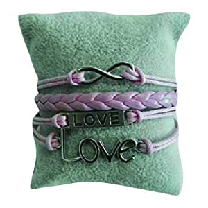 Schakespeare Women's Stainless Steel Love Bracelet