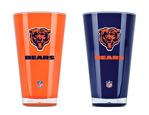 NFL Chicago Bears 20oz Insulated Acrylic Tumbler Set of 2