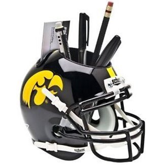 - Iowa Hawkeyes NCAA Football Schutt Mini Helmet Desk Caddy