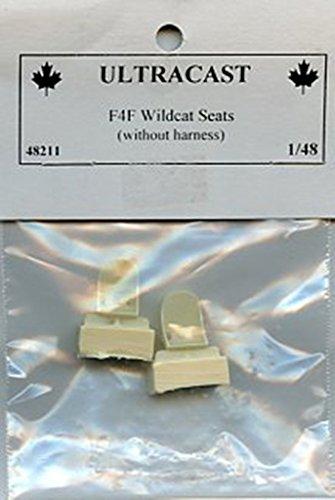Ultracast 1:48 F4F Wildcat Seats wihout Harness Resin Detail Set #48211 ()