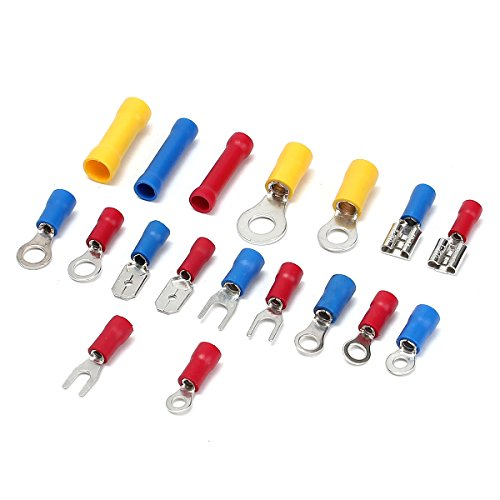 1200Pcs Insulated Electrical Wire Connector Crimp Terminals Spade Assorted Set by US Tech (Image #1)