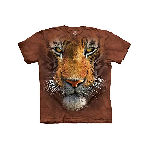 The Mountain Tiger Face Child T-Shirt, Brown, Small