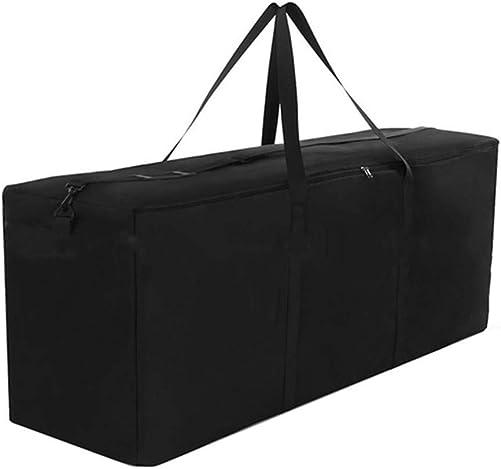 skyfiree Patio Cushion Storage Bag Outdoor Storage Bags Waterproof Furniture Cushion Bag 600D Heavy Duty Rectangle