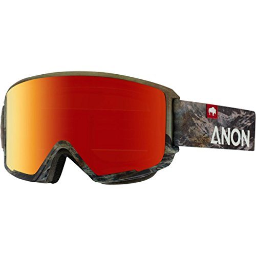Anon M3 Goggle, Tatonka/Red Solex, One - Goggles Otg Anon