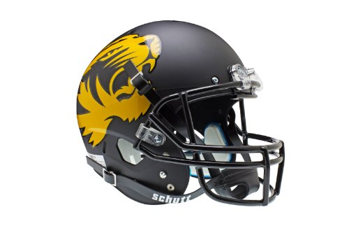Schutt NCAA Missouri Tigers Replica XP Helmet - Alternate 1 (Matte Black) by Schutt