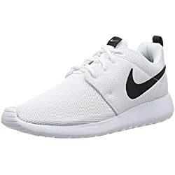 Nike Womens Roshe One Running Shoes (8.5 B(M) US)(White/White/Black)