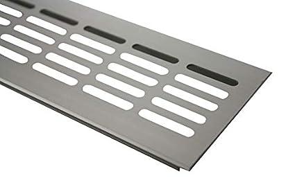 Rejillas Ventilación Placa del puente ventilación de aluminio 80mm x 300mm en diferentes colores - Acero inox anodizado - E6C31
