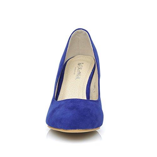 aiguilles PEARL talons daim Chaussures Bleu Bout rond à électrique Effet qqgPR
