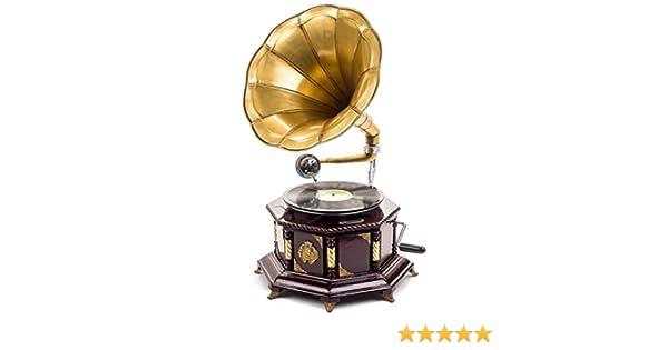 Gramófono Estilo Antiguo con bocina - para Discos de 78 RPM - 70 ...