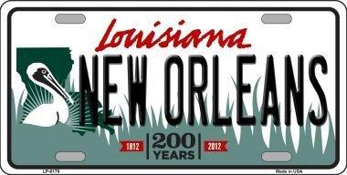 SMART Blond Lp-6179/New Orleans Louisiana fantaisie en m/étal plaque dimmatriculation