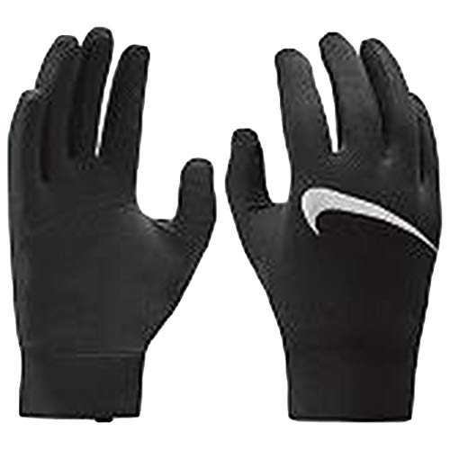 Nike Men's Dry Element Running Gloves (M, Black/Silver)