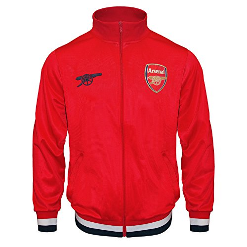 Retro Soccer Jackets - Arsenal FC Official Soccer Gift Boys Retro Track Top Jacket Red 12-13 Years XLB
